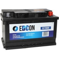 Edcon 72Ah 680A R+ low