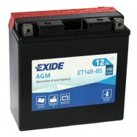 Exide ET14B-BS AGM 12Ah 190A R+