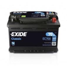 Exide CLASSIC 70Ah 640A R+