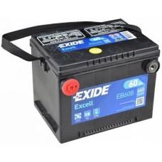 Exide EXCELL 60Ah 640A L+ боковые клеммы