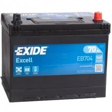 Exide EXCELL 70Ah 540A L+