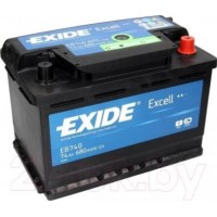 Exide EXCELL 74Ah 680A L+